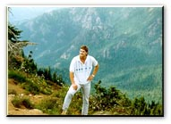 Brian Taylor in Olympic Mountains in 1988