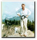 Dr. Peter Taylor in Olympic Mountains in 1988