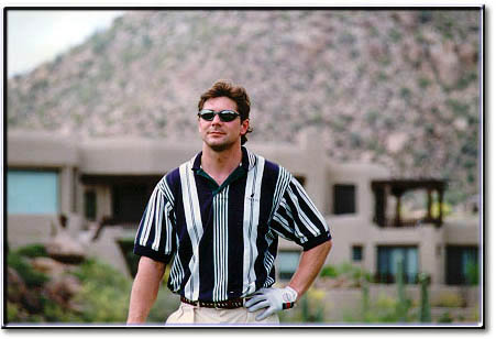 bt golfing at troon arizona in 1998