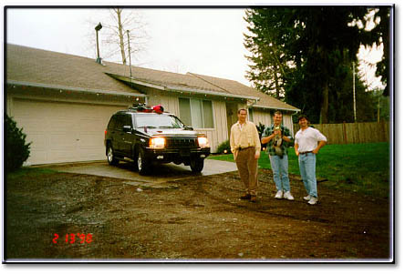 brook lang, dave, steve bohrer - leaving for whistler