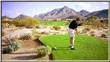 brian taylor - golfing at troon golf course in arizona