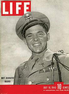 audie murphy - cover life magazine