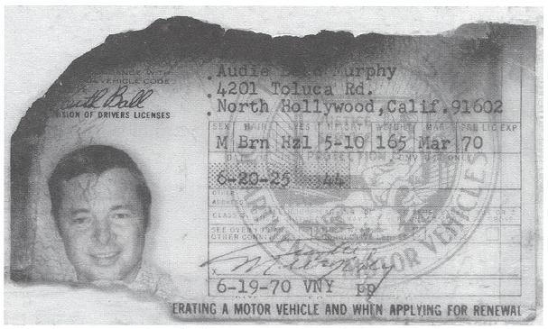 audie murphy - drivers license