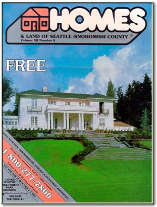 homes & land magazine cover 1990