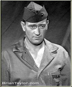 john wayne as sergeant stryker in iwo jima